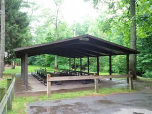 Covered pavilion at sawyer park