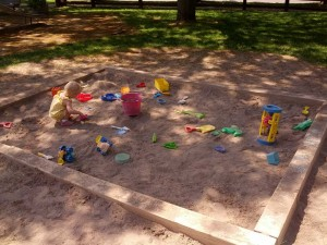 Sandbox at Ellwanger and Barry Park
