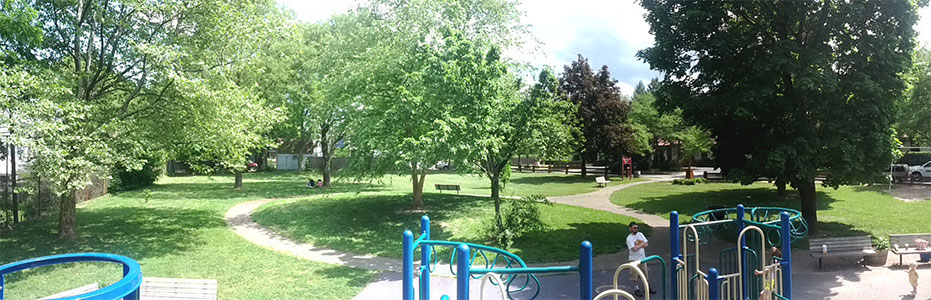 panoramic view of ellwanger and barry park
