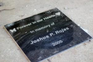 Joshua memorial placard