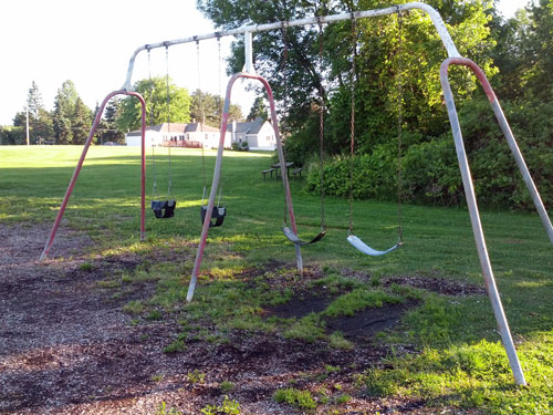 Swings at Forest Hills Playground