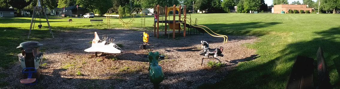 Forest hills playground panorama