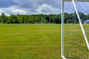 Soccer goal at Gates Town Park