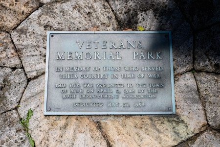 Veterans Memorial Park dedication plaque