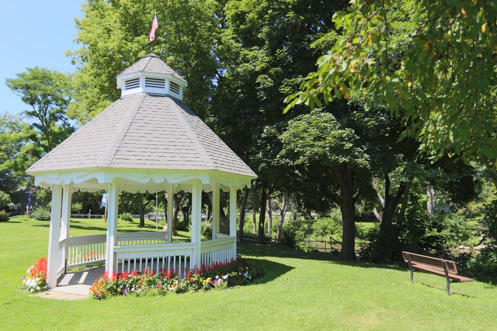 Veteran's Memorial Park gazebo