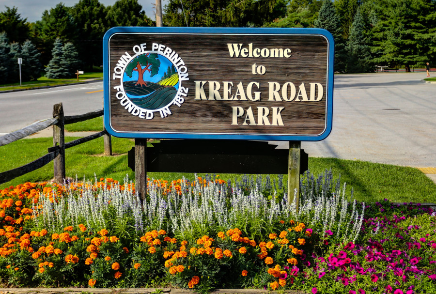 Kreag Road Park sign